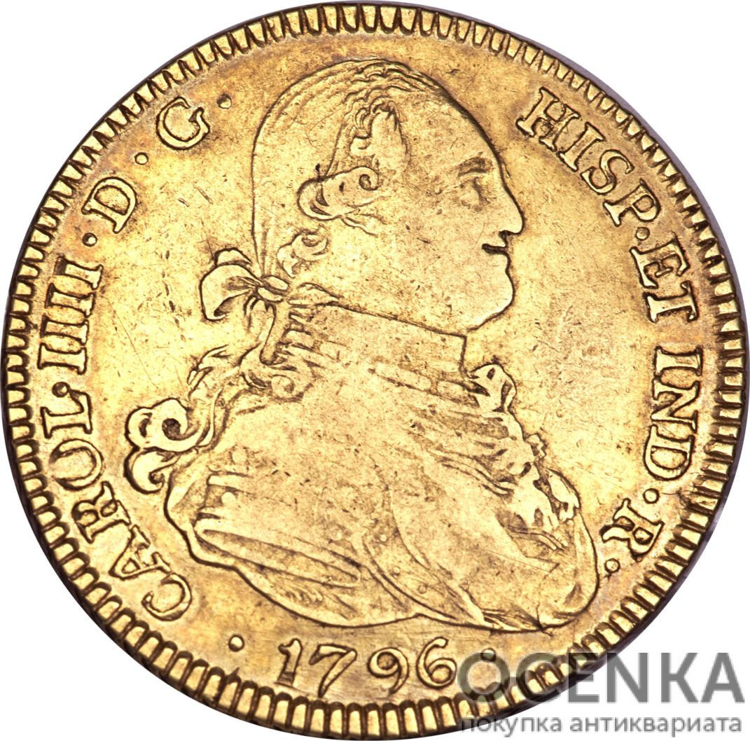 Золотая монета 4 эскудо (4 Escudos) Боливия - 1