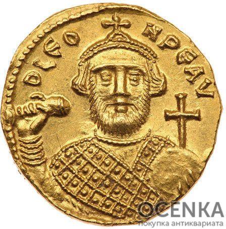 Золотой солид Византии, Леонтий, 695-698 год