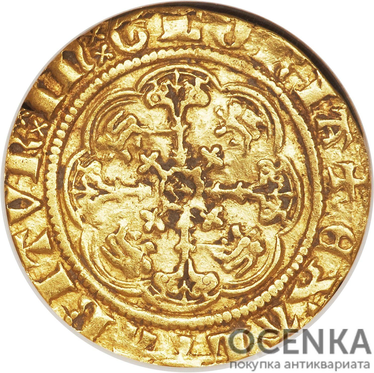 Золотая монета ¼ Noble (1/4 нобля) Великобритания - 2