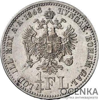Серебряная монета ¼ Флорина (¼ Florin) Австро-Венгрия - 2