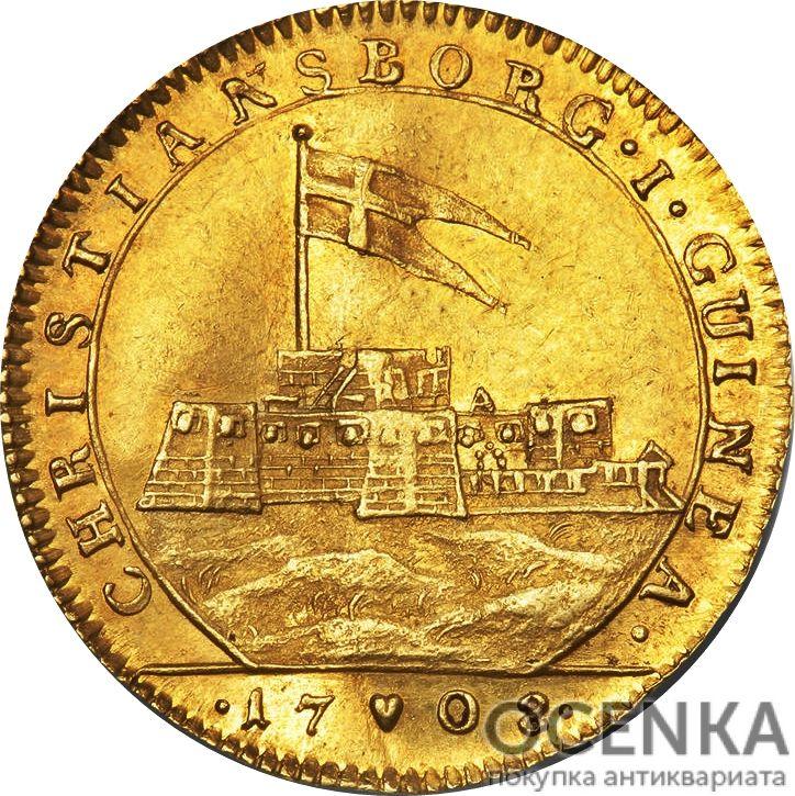 Золотая монета 1 Дукат (1 Ducat) Дания - 6