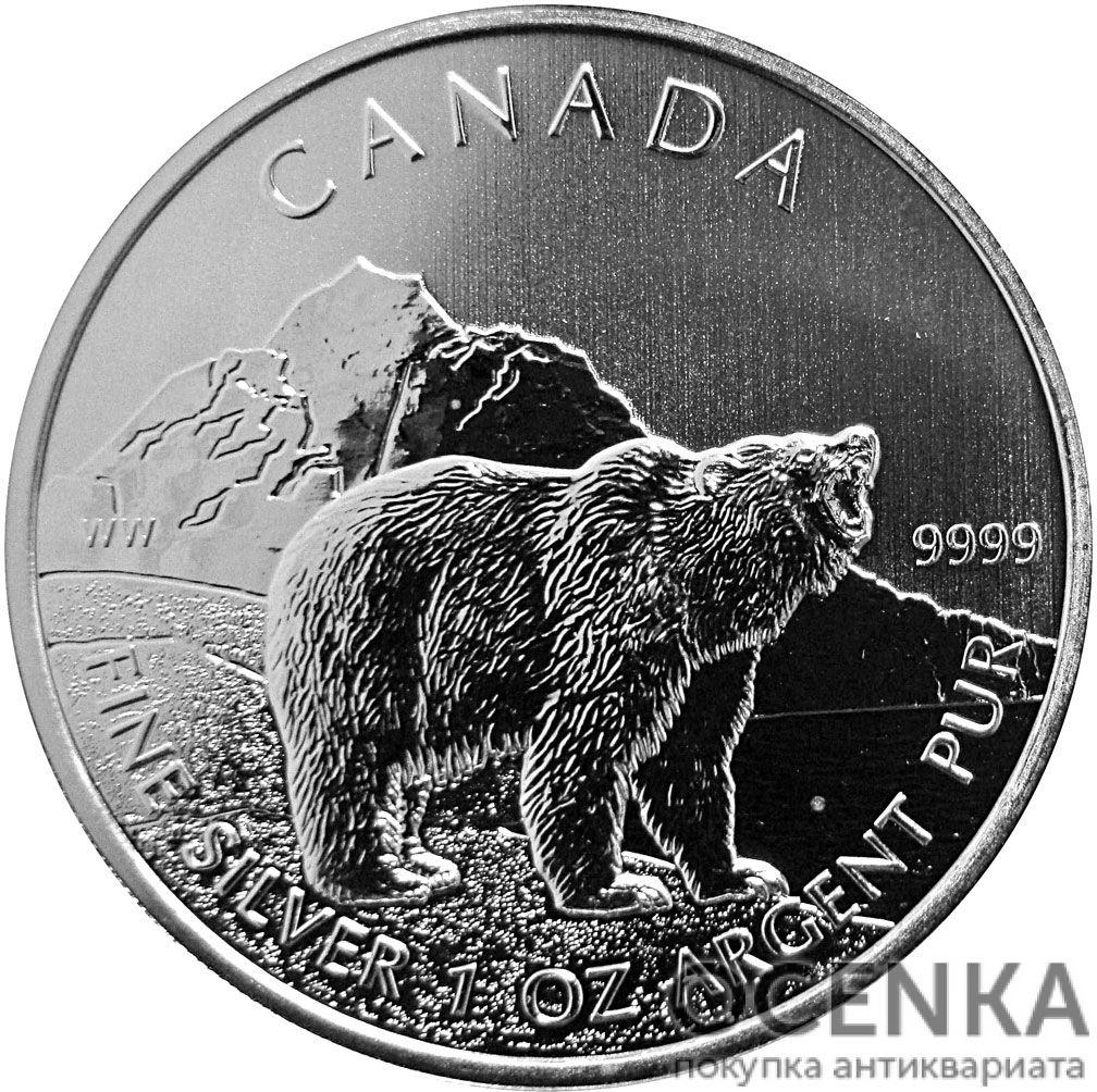 Серебряная монета 5 Долларов Канады - 4
