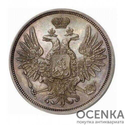 Медная монета 5 копеек Николая 1 - 9
