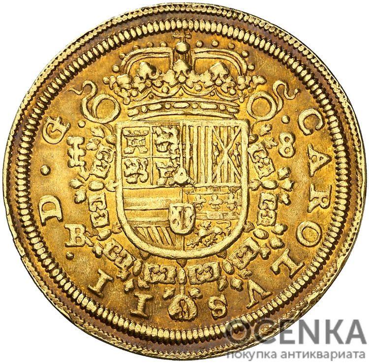 Золотая монета 8 Эскудо (8 Escudos) Испания - 3