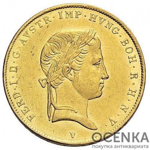 Золотая монета полсоврано Австро-Венгрии - 3