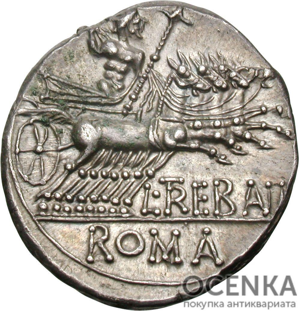 Серебряный Республиканский Денарий Луция Требония, 135 год до н.э. - 1