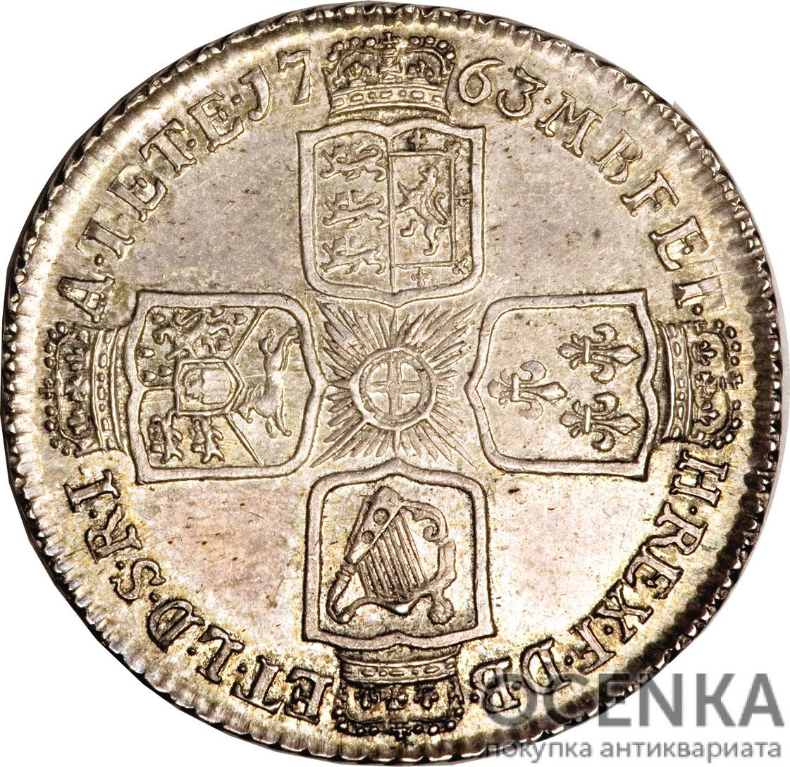 Серебряная монета 1 Шиллинг (1 Shilling) Великобритания - 2