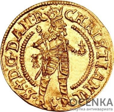 Золотая монета ½ Дуката (½ Ducat) Дания - 1