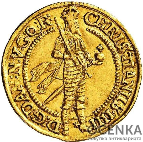 Золотая монета 1 Дукат (1 Ducat) Дания - 1
