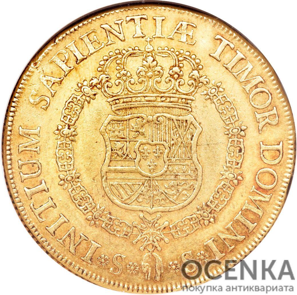 Золотая монета 8 Эскудо (8 Escudos) Испания - 4