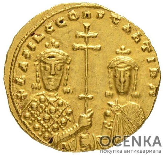 Золотой гистаменон Византии, Василий II Болгаробойца, 976-1025 год - 1