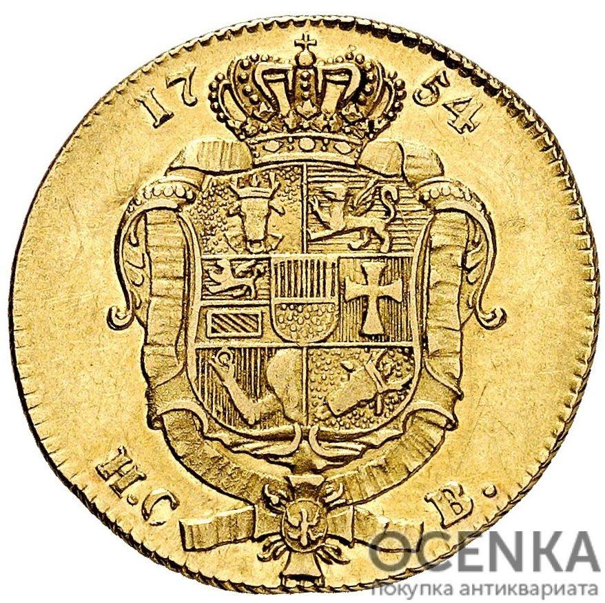Золотая монета 1 Пистоль Германия - 2