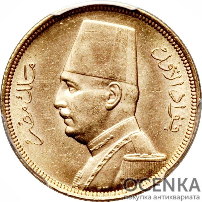Золотая монета 50 Пиастров, Кирш (50 Piastres, Qirsh) Египет - 5