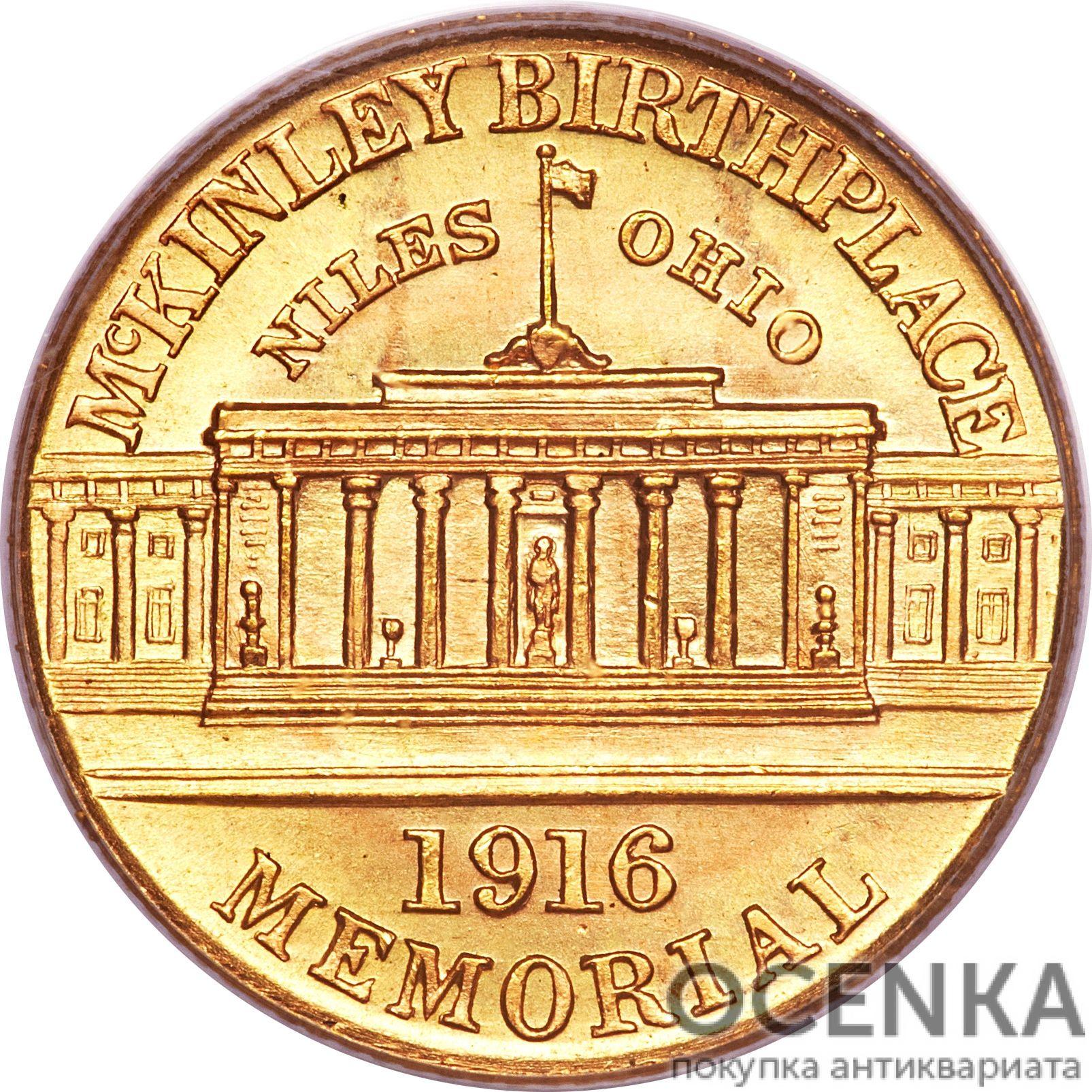 Золотая монета 1 Dollar (доллар) США - 10