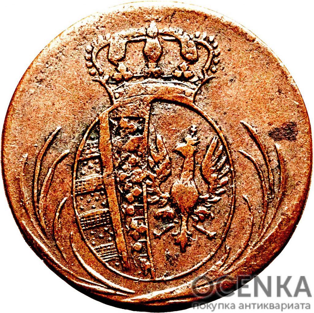 Медная монета Грош Средневековой Европы - 1