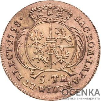 Золотая монета 5 Талеров Германия - 6