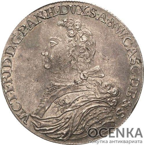 Серебряная монета Талер Средневековой Германии - 5