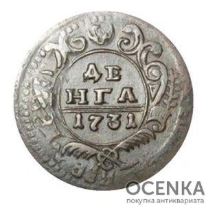 Медная монета Денга Анны Иоанновны