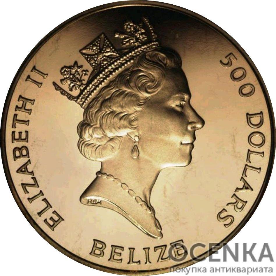 Золотая монета 500 долларов Белиза - 3