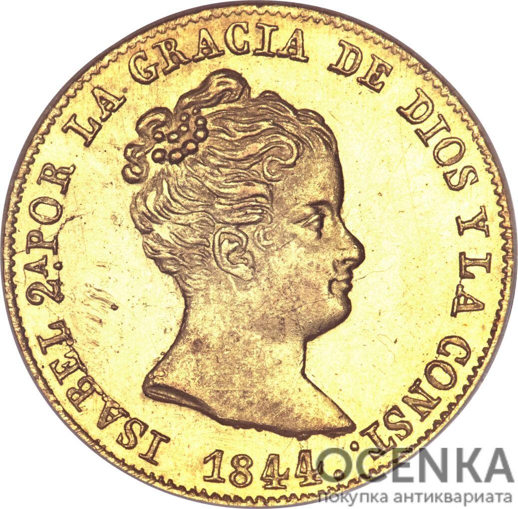 Золотая монета 80 Реалов (80 Reales) Испания - 7