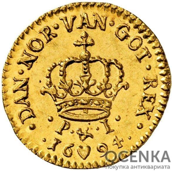 Золотая монета 2 Дуката (2 Ducats, Dukater) Дания - 6
