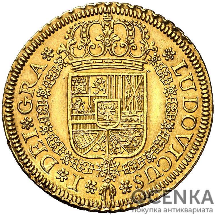 Золотая монета 4 Эскудо (4 Escudos) Испания - 3