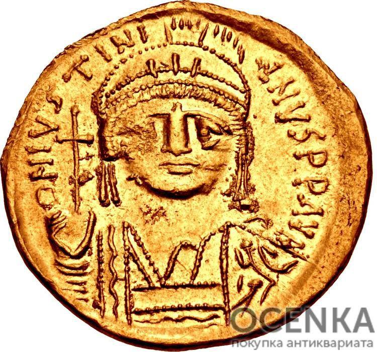 Золотой солид Византии, Флавий Пётр Савватий Юстиниан I, 527-565 год