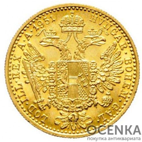 Золотая монета 1 дукат Австро-Венгрии - 8