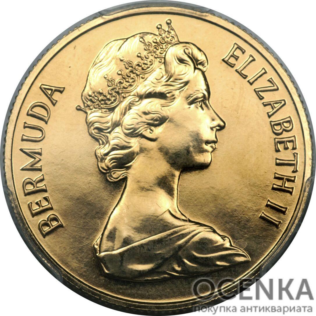 Золотая монета 250 долларов Бермудских островов - 1