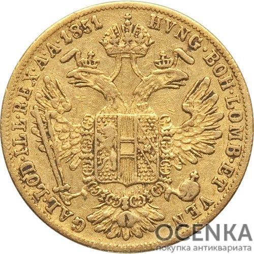 Золотая монета 1 дукат Австро-Венгрии