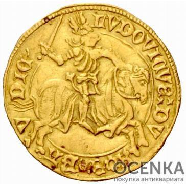 Золотая монета 1 Дукат (1 Ducat) Франция - 1