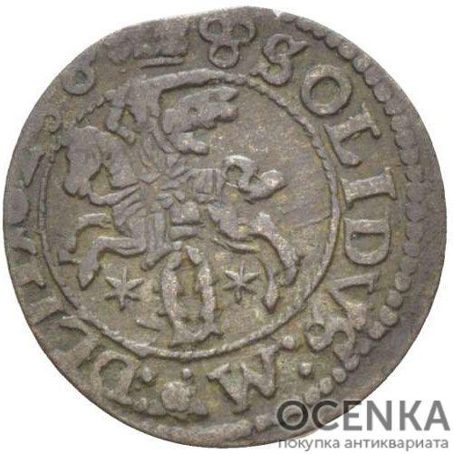 Серебряная монета Двойной Денарий Средневековой Литвы - 5