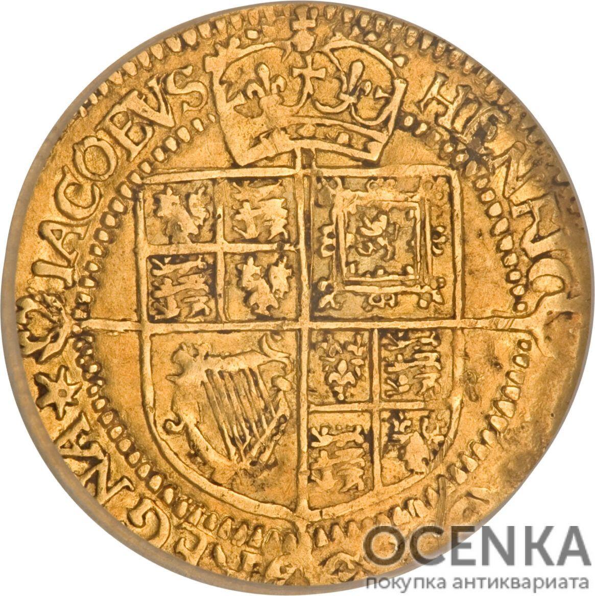 Золотая монета ¼ Laurel (1/4 лореля) Великобритания - 1