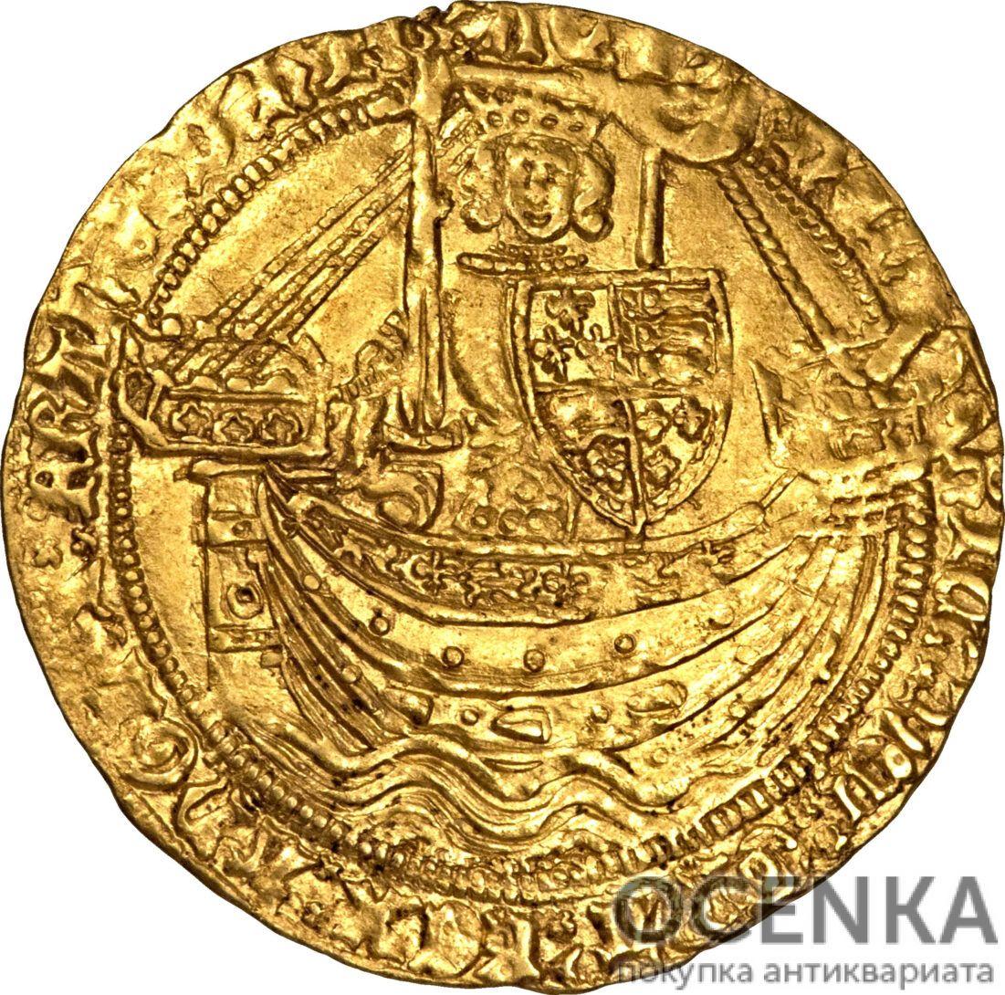 Золотая монета 1 Noble (нобль) Великобритания - 4