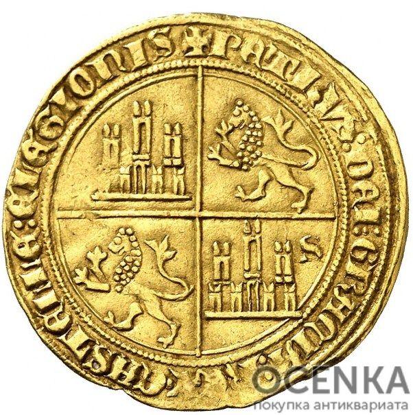 Золотая монета 1 Добла (1 Dobla) Испания - 4