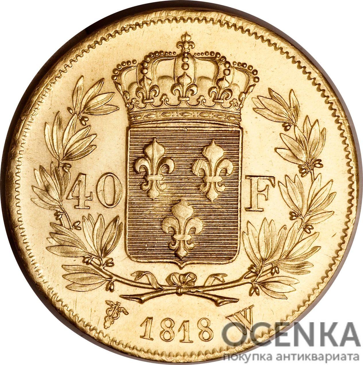 Золотая монета 40 Франков (40 Francs) Франция - 2