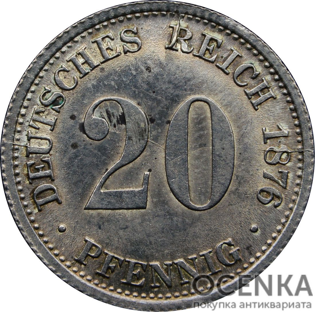 Серебряная монета 20 Пфеннигов (20 Pfennig) Германия