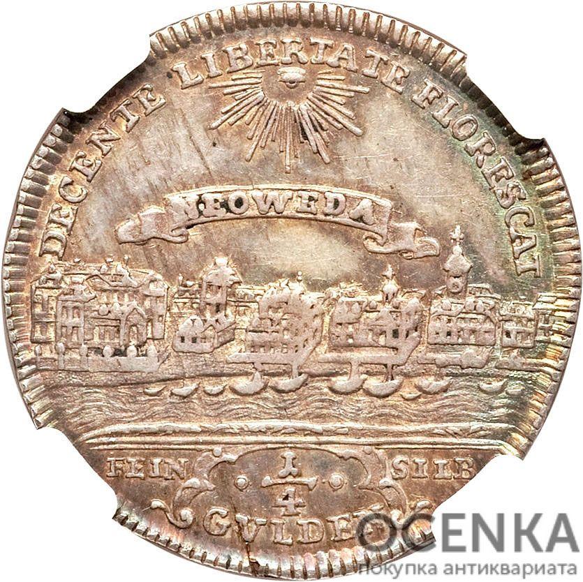 Серебряная монета ¼ Гульдена (¼ Gulden) Германия - 2