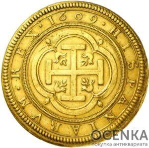 Золотая монета 100 Эскудо (100 Escudo) Испания