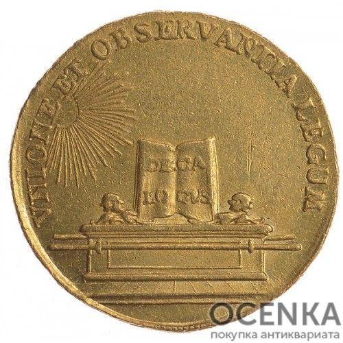 Золотая монета 2 Дуката Германия - 3