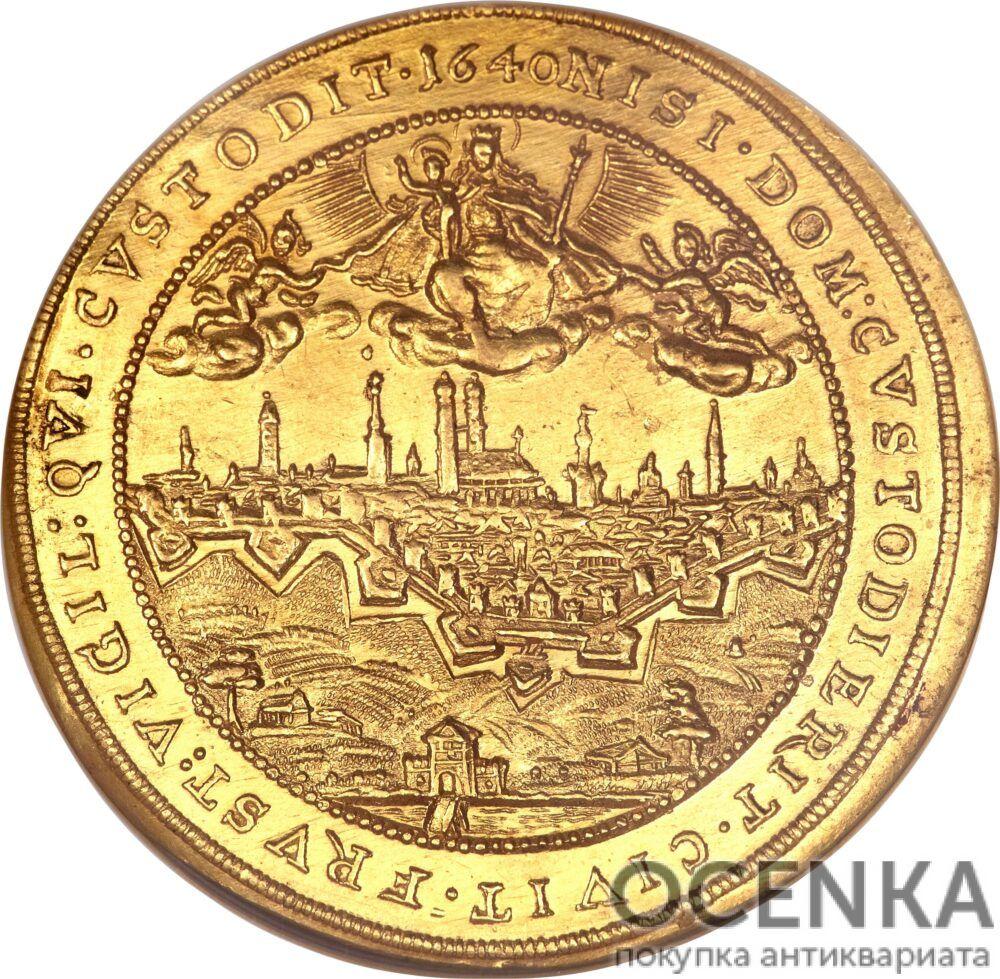 Золотая монета 5 Дукатов Германия - 1