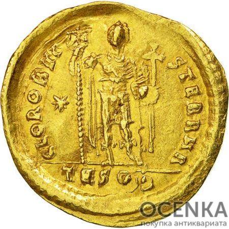 Золотой солид Византии, Флавий Валерий Лев I Макелла, 457-474 год - 1