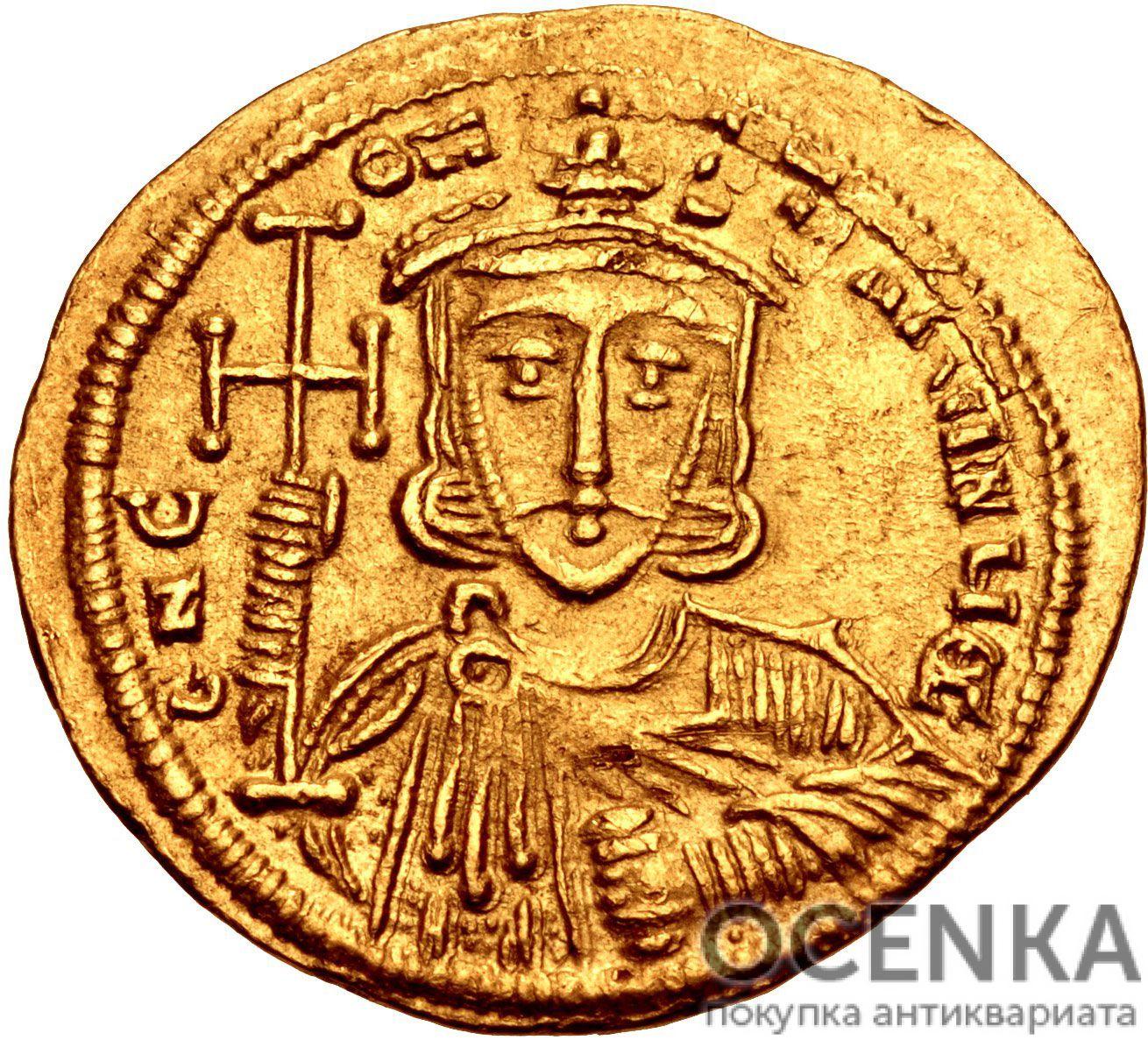 Золотой солид Византии, Константин V Копроним, 741-775 год - 1
