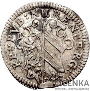 Серебряная монета 2 Крейцера (2 Kreuzer) Германия - 7