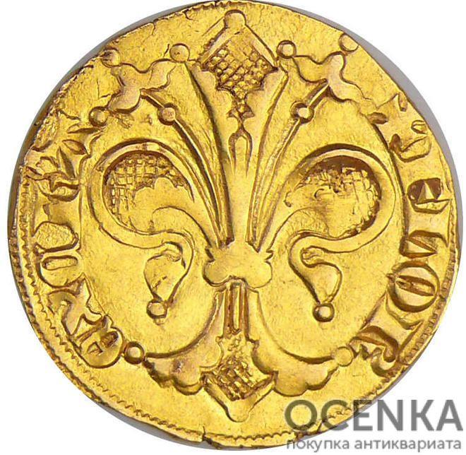Золотая монета 1 Флорин(1 Florin) Франция