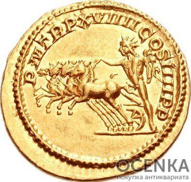 Золотой ауреус, Каракалла (Цезарь Марк Аврелий Север Антонин Пий Август), 198-217 год - 1