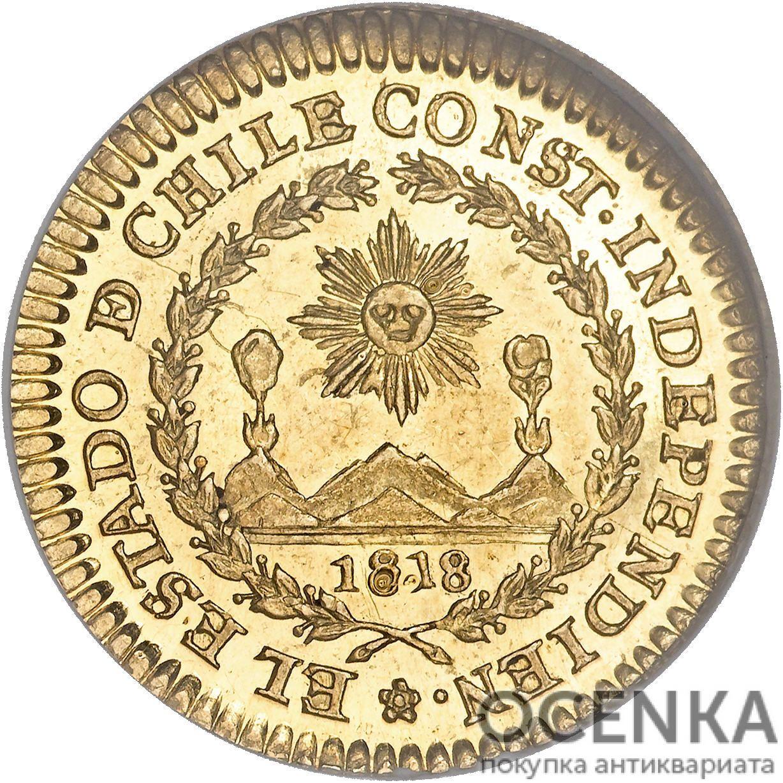 Золотая монета 1 Эскудо (1 Escudo) Чили - 5