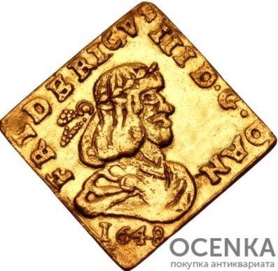 Золотая монета ½ Дуката (½ Ducat) Дания - 5