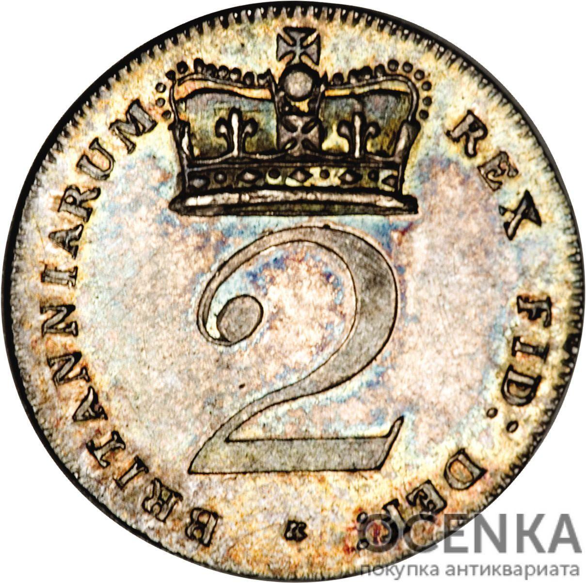 Серебряная монета 2 Пенса (2 Pence) Великобритания - 2