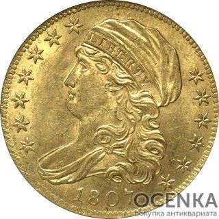 Золотая монета 5 Dollars (5 долларов) США - 5